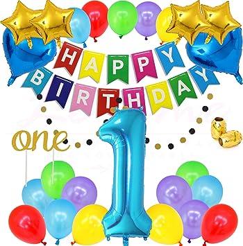 Amazon.com: LeTime - Globos para fiesta de primer cumpleaños ...
