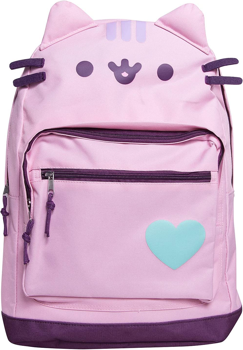 Pusheen The Cat Backpack Standard Size Backpack for Girls Everyday Use- Pink