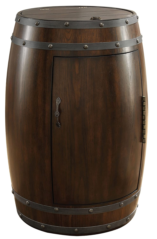 Homelegance Cabernet Wine Barrel Refrigerator, Dark Cherry