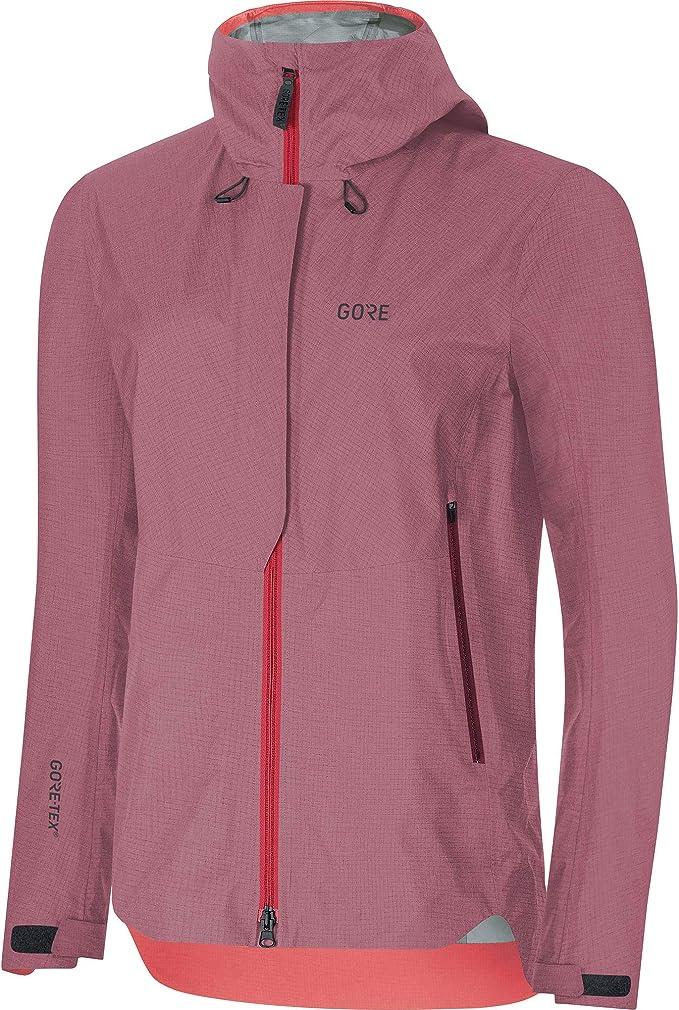 Pink//Bordeaux, 38 GORE WEAR R3 Damen Kapuzenjacke Gore Windstopper