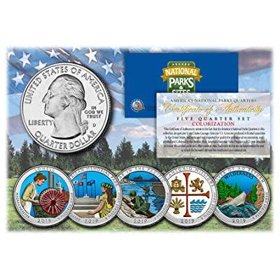2020 America The Beautiful Parks Quarters 5-Coin Set Collectible Art Colorized: Everything Else