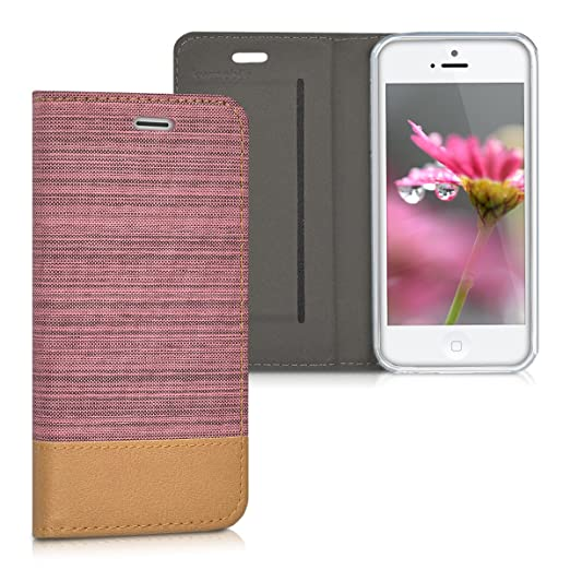 10 opinioni per kwmobile Cover Flip per Apple iPhone SE / 5 / 5S- Custodia a libro protettiva