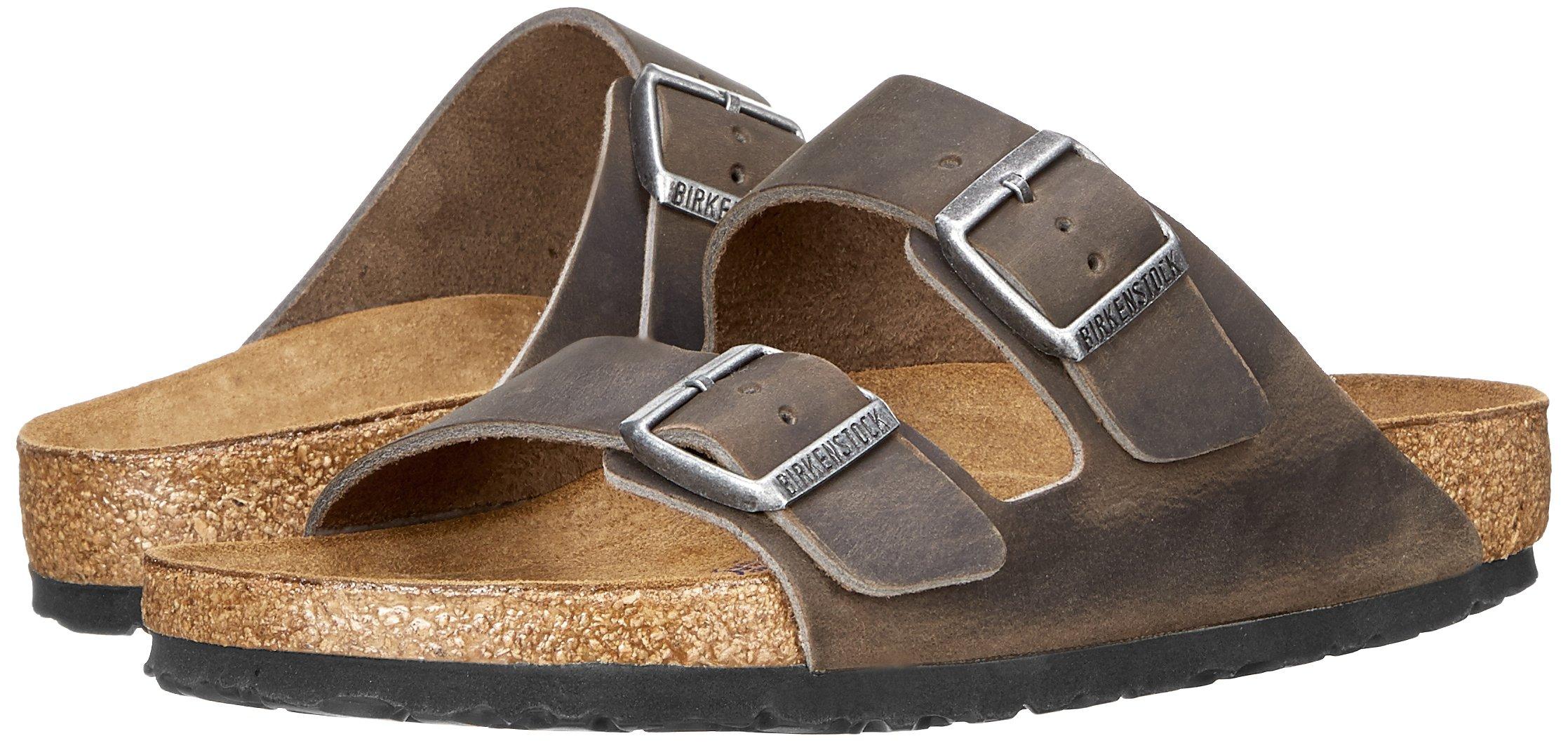 Birkenstock Unisex Arizona Iron Oiled Leather Sandals - 45 M EU/12-12.5 B(M) US Men by Birkenstock (Image #6)