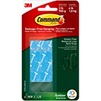 Command Outdoor Clear Refill Strips, Re-Hang Outdoor Window Hooks (17615CLRAW-ES), Dark Green, 4 Refill Strips