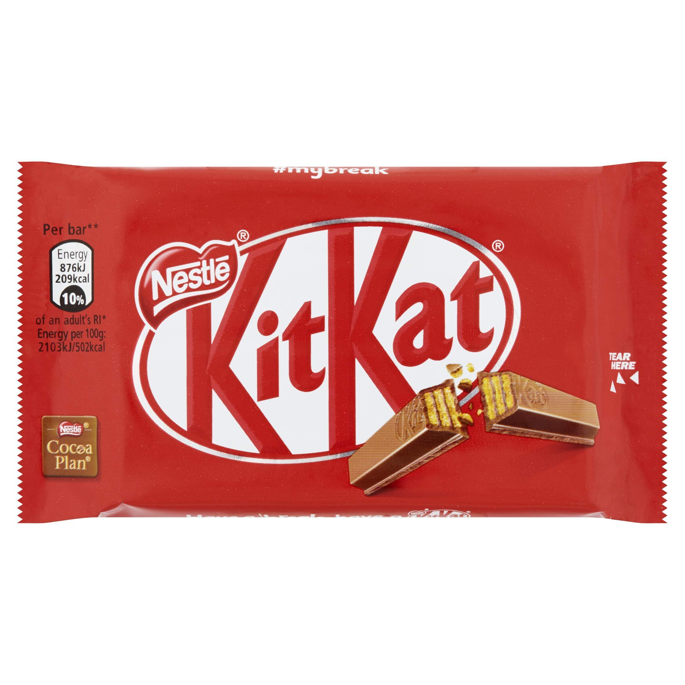 KITKAT 4 Finger Milk Chocolate Bar 41.5g (Pack of 24)
