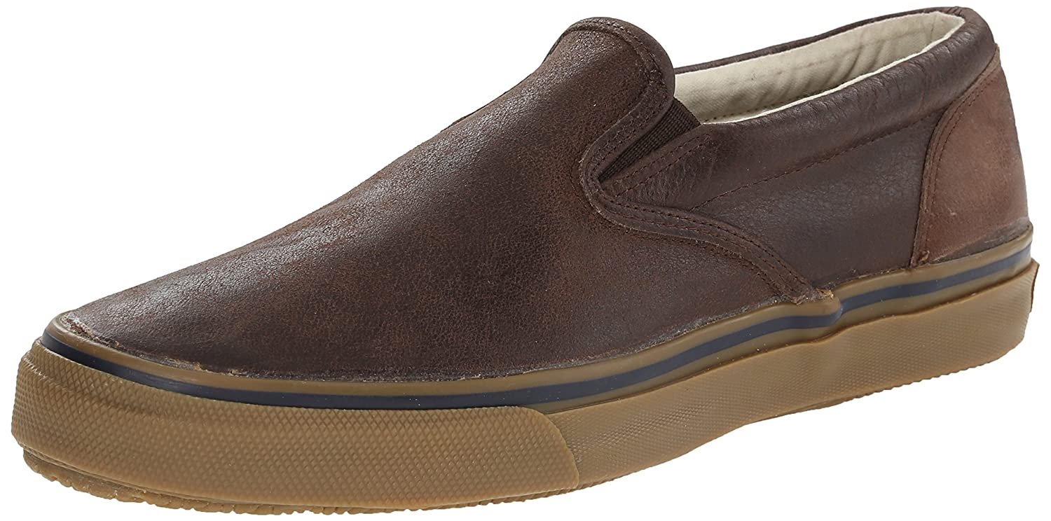 Sperry Top-Sider Mens Striper S/O Leather Sneaker  9,5 M|Brown