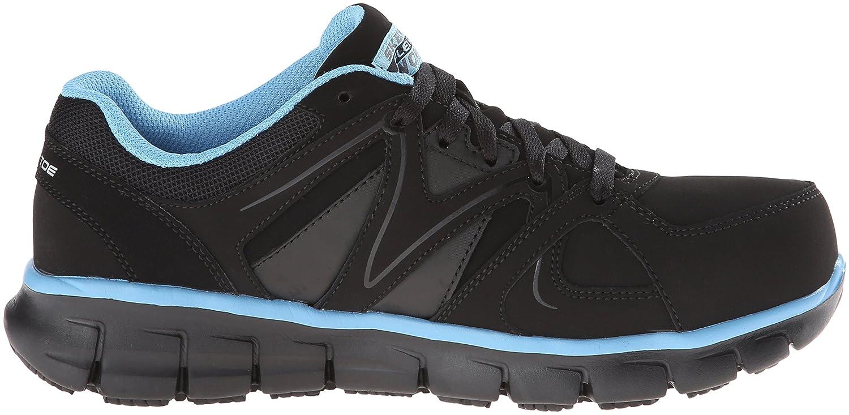 Skechers Women's Synergy-Sandlot Work Boot B00GSMLXI2 5.5 B(M) US Black/Blue