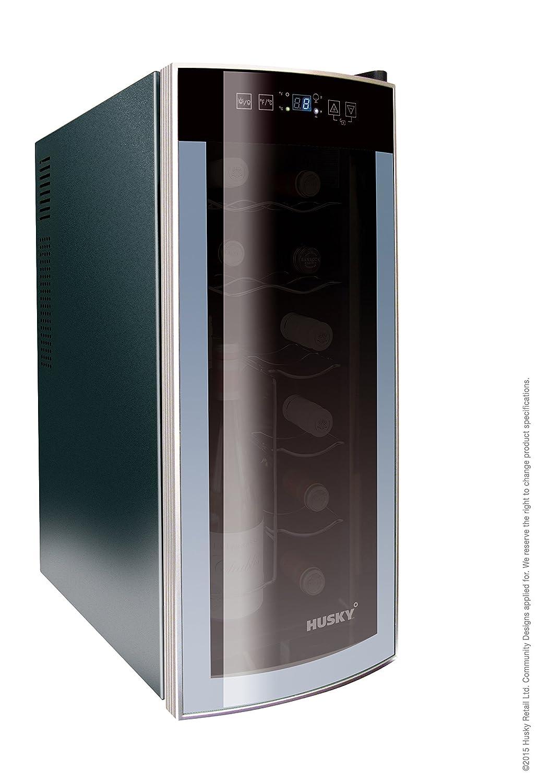Husky hus-hn6 12 Flasche Kapazität gebogen, Reflections Slim Line Weinkühler