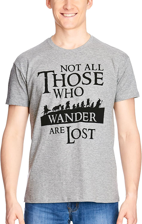 Herr der Ringe Il Signore degli Anelli Mens T-Shirt Compagni di Elbenwald Grigio