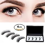 Amazon Price History for:WEBSUN Magnetic False Eyelashes Dual 3D Fiber Reusable Eyelashes No Glue Natural Eyelashes
