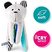 Whisbear The Humming Bear Sleep Soother, Sensory Toy for Babies, Helps Babies Fall Asleep with a Calming Sound, reacts to Babies' Crying, Safe Teddy Bear, Turquoise