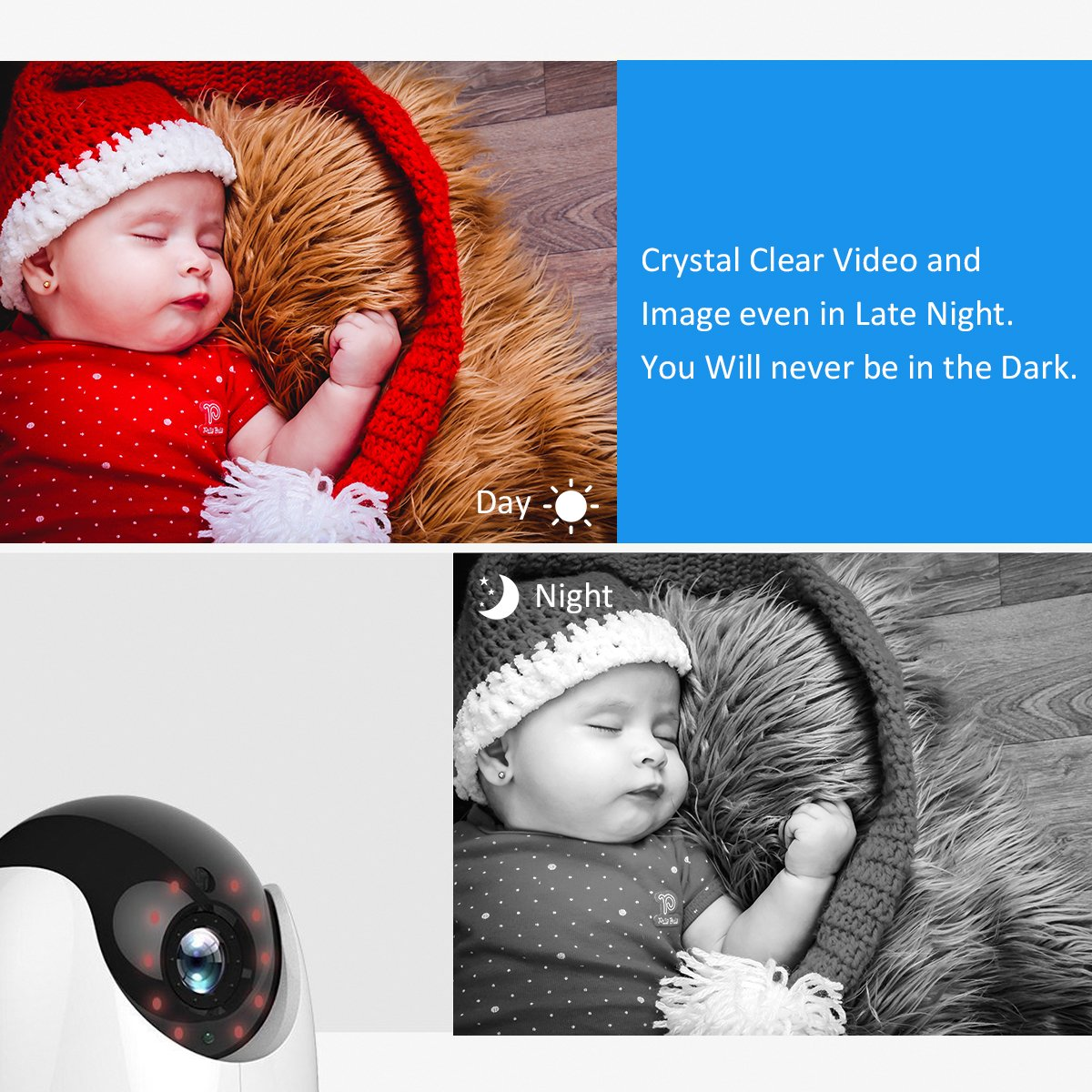 Amazon.com: Hogar inalámbrica cámara, 1080p, WiFi IP ...