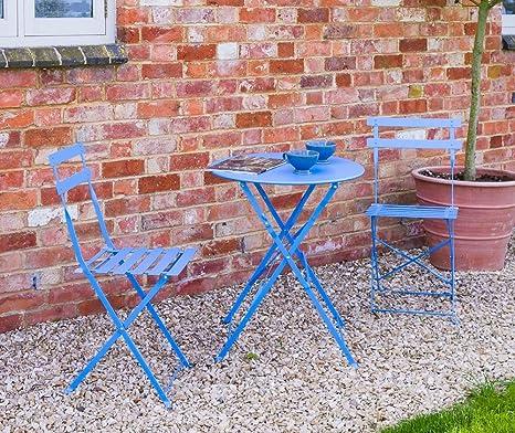 Sue Ryder - Juego de 3 sillas plegables de metal para patio ...