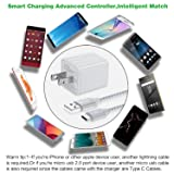USB C Cable, USB Wall Charger Adapter with