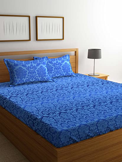 e0dd9eba0 Image Unavailable. Image not available for. Colour  Bombay Dyeing Mimosaa  100 TC Cotton Double Bedsheet ...