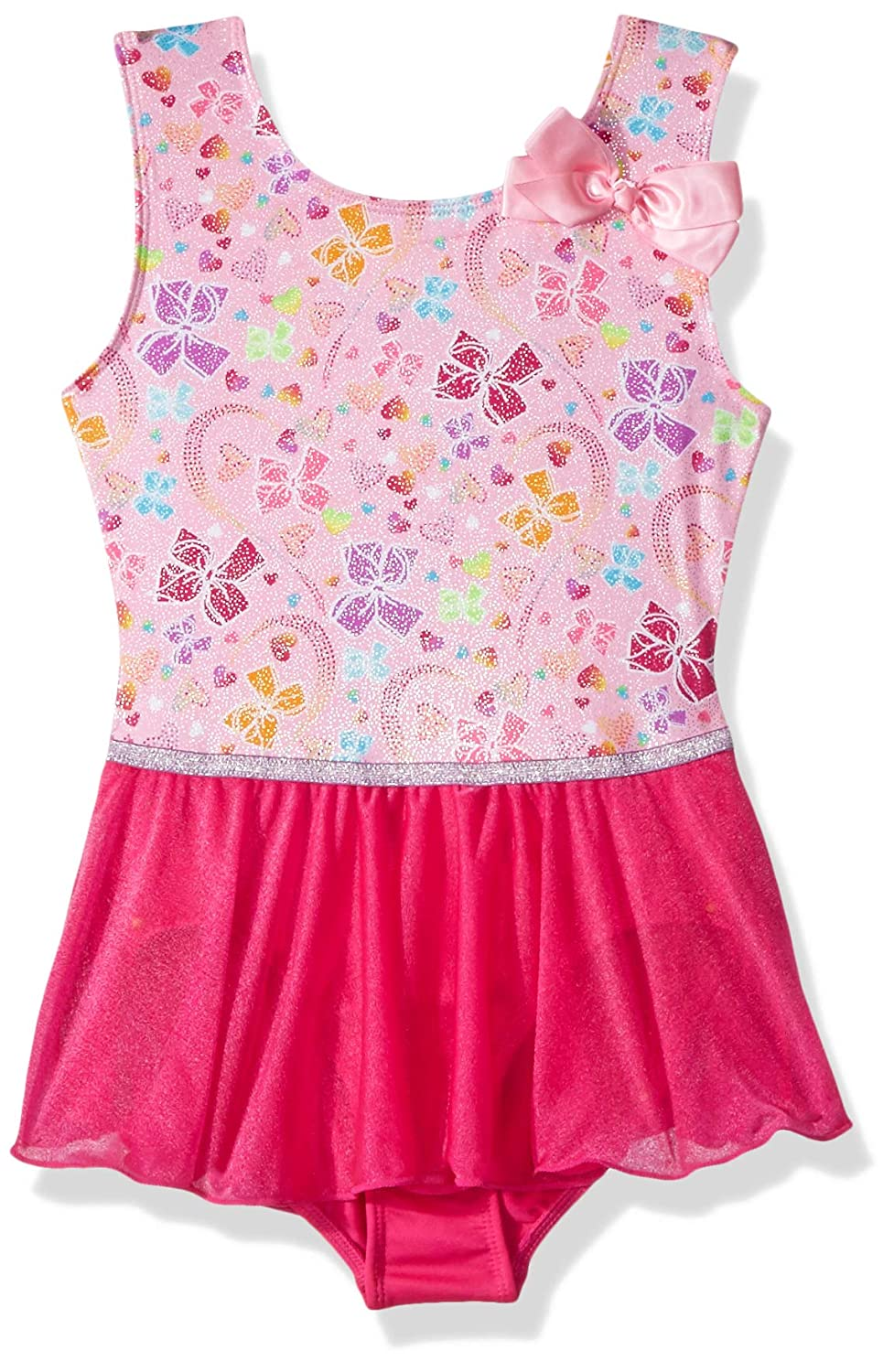 Jojo Siwa By Danskin Girls' Big Rainbow Bows Tank Dance Dress 7785