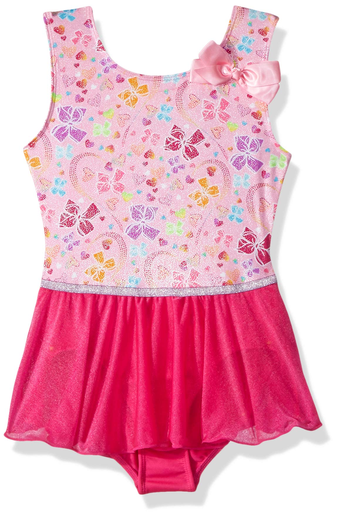 Nickelodeon Girls' Big Rainbow Bows Tank Dance Dress, Sugar Pink Pretty, Small by Nickelodeon (Image #1)