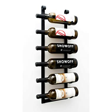 VintageView Wall Series - Le Rustique 6 Bottle Wall Mounted Wine Rack Stylish Modern Wine Storage with Label Forward Design