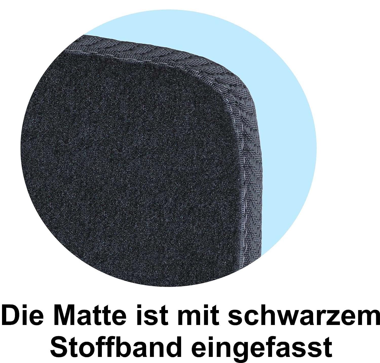 RAU Lichtbild-Galerie ajuste alfombrillas de pie con Matte plana delantera y trasera color negro amros0075