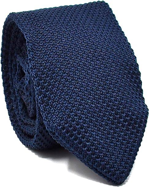Oxford Collection Corbata de hombre Azul Marino de Punto - 100 ...