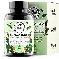 Ashwagandha 2100mg – Fast Superior Absorption – 100% Pure, Potent Organic Ashwagandha Root Powder and Black Pepper…