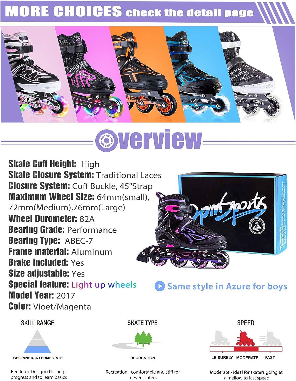 2pm Sports Adjustable Light up Kid Inline Skates - 4