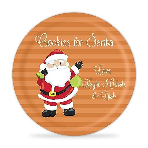 Cookies for Santa Plate - Santa Christmas Kids Melamine Personalized Plate  sc 1 st  Amazon.com & Amazon.com: Cookies for Santa Plate - Santa Christmas Kids Melamine ...