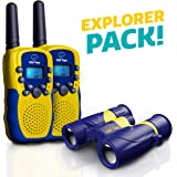 USA Toyz Walkie Talkies with Binoculars for Kids - Vox Box Voice Activated Walkie Talkies for Boys or Girls, Rechargeable Long Range Walkie Talkie Toys Set