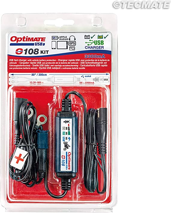 Optimate O 108kit Usb Charger Lithium Friendly Auto