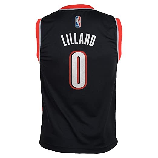 Amazon.com : Damian Lillard Portland Trail Blazers Adidas NBA Replica Youth Jersey - Black : Sports & Outdoors