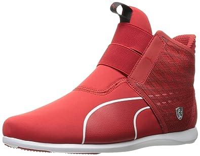 PUMA Women's SF Ankle Boot Walking Shoe, Rosso Corsa-Rosso Corsa-Puma White