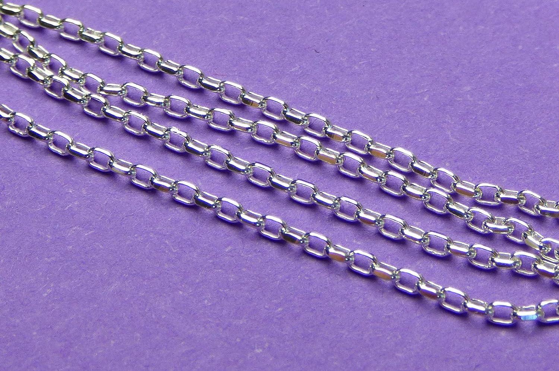 Nuovi 24/in//610/MM 25/GA 925/non rifinito in argento Sterling con catena a maglia rol/ò