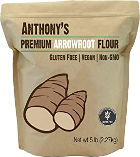 product image for Anthony's Arrowroot Flour, 5 lb, Batch Tested and Gluten Free, Non GMO