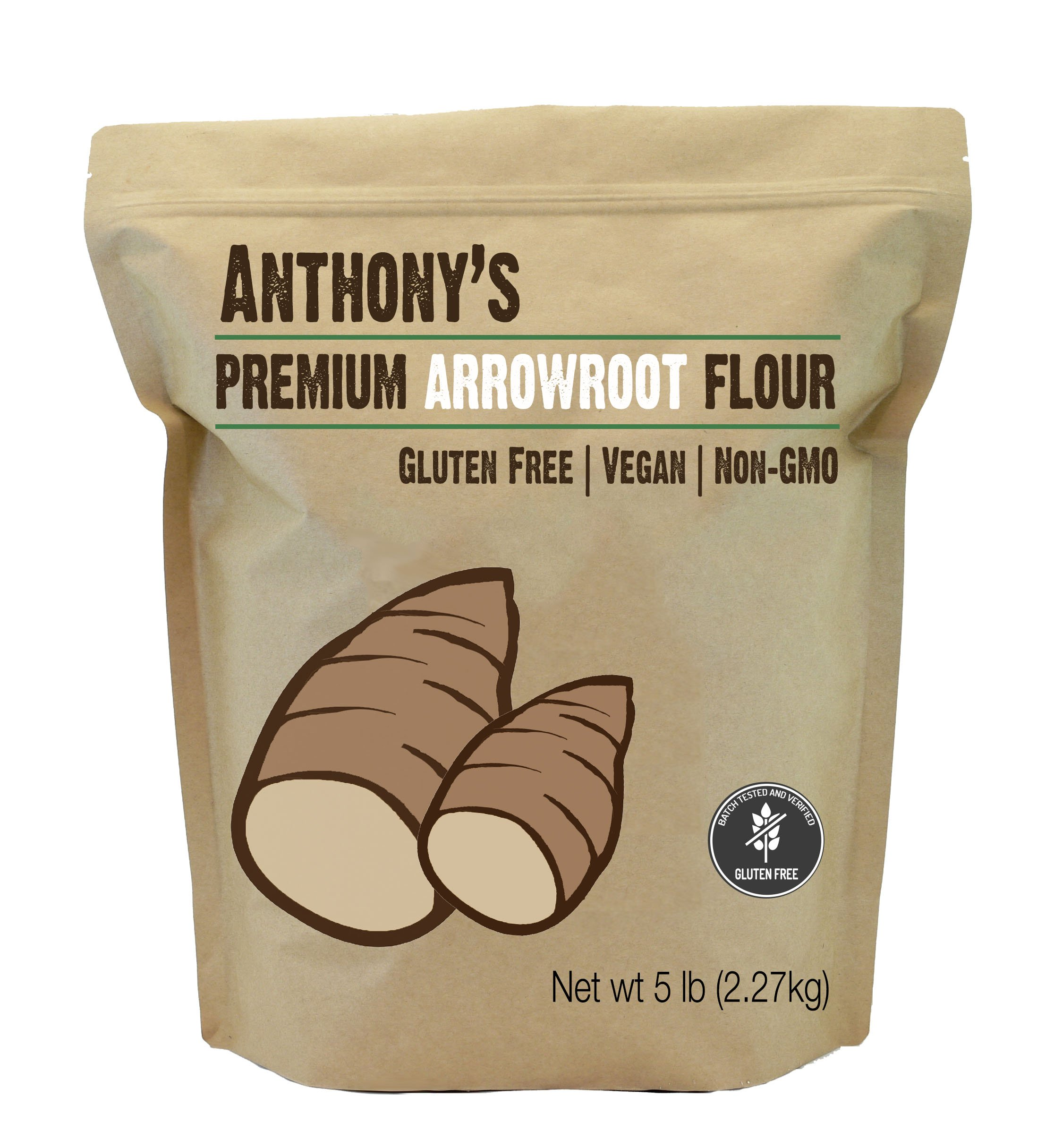 Arrowroot Flour (5 Pounds) by Anthony's, Gluten-Free