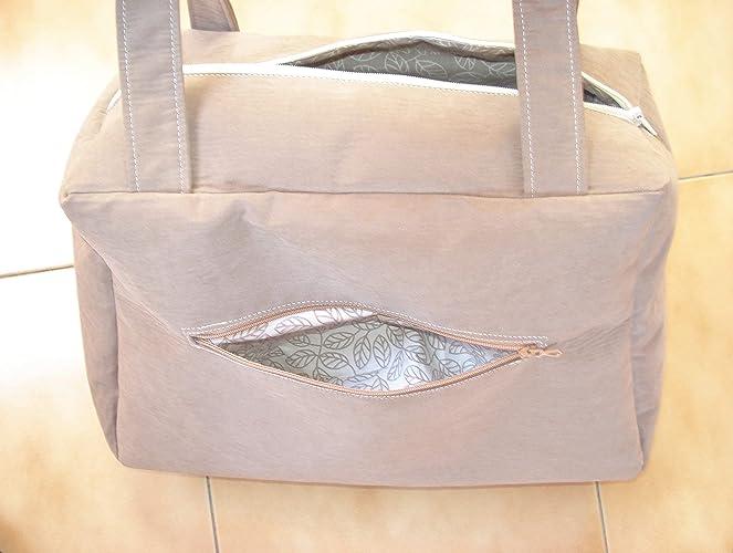Sac cabas ou petit sac à langer Tissu épais marron beige