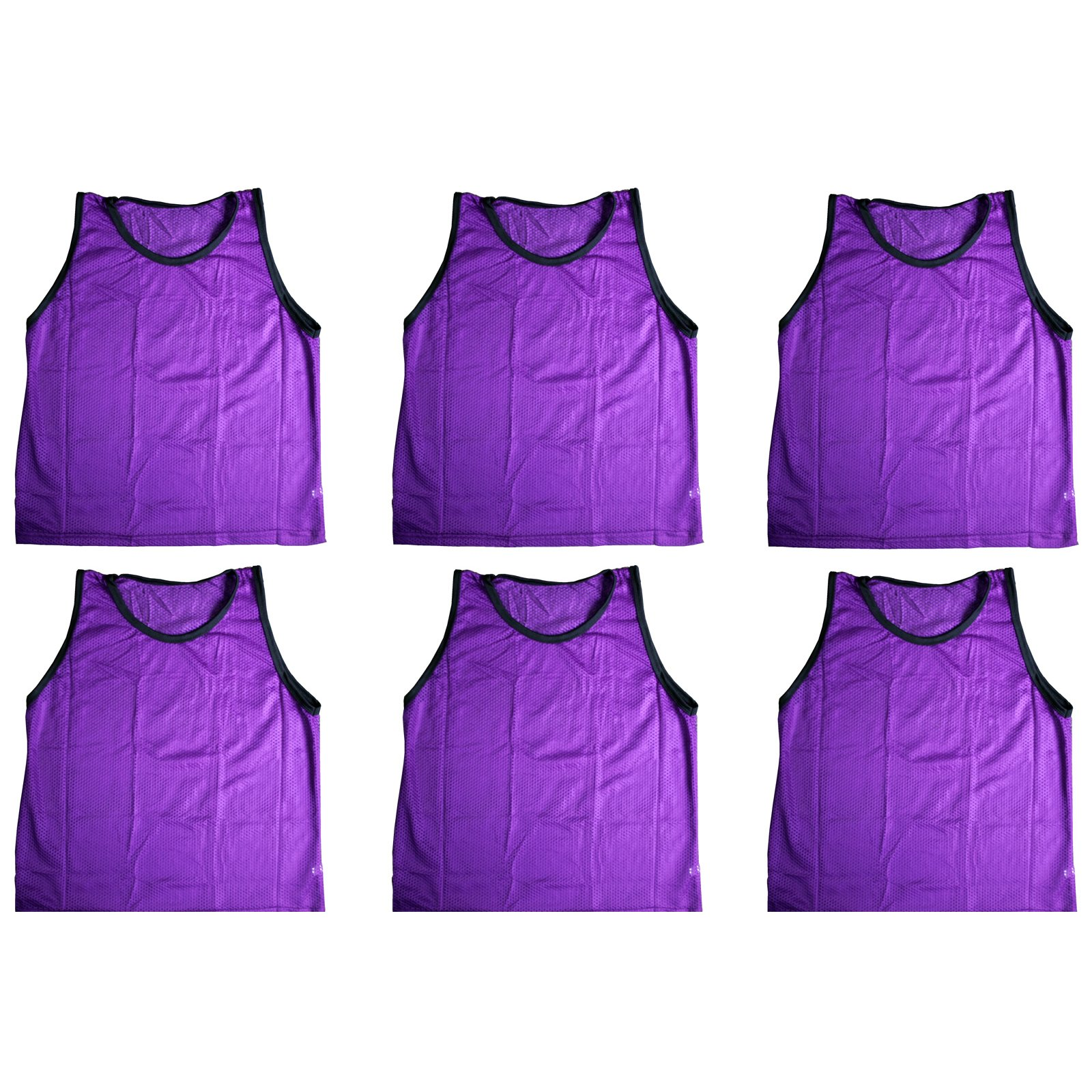 BlueDot Trading Adult Sports Pinnies Scrimmage Training Vests (6-Pack), Purple by Bluedot Trading