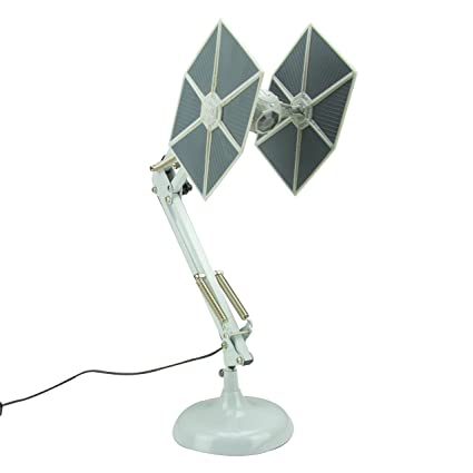 Star Wars Tie Fighter Posable Desk Lamp | Great Office Lamp & Light | USB  Powdered Reading Light | Perfect As Study Lamp , Work Lamp Or Bedroom Light