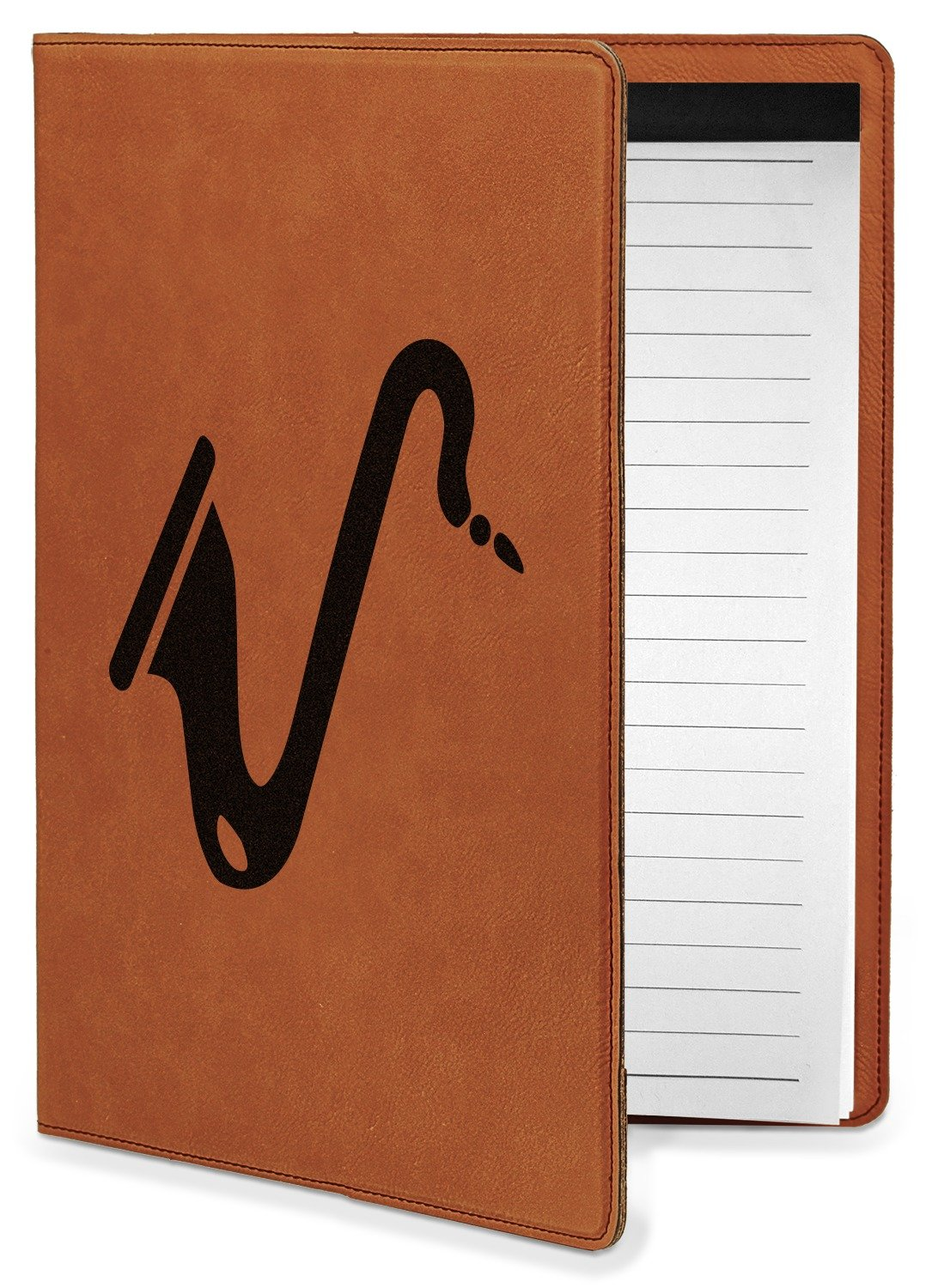 Musical Instruments Leatherette Portfolio with Notepad - Small - Double Sided (Personalized)