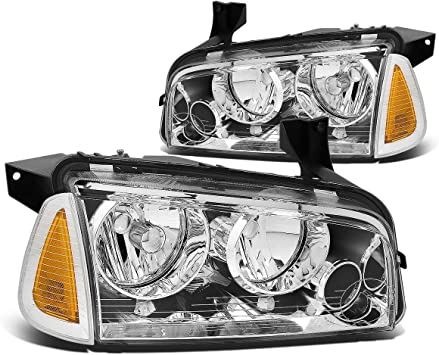 DNA Motoring HL-OH-CS99-4P-CH-AB Headlight Assembly Driver and Passenger Side