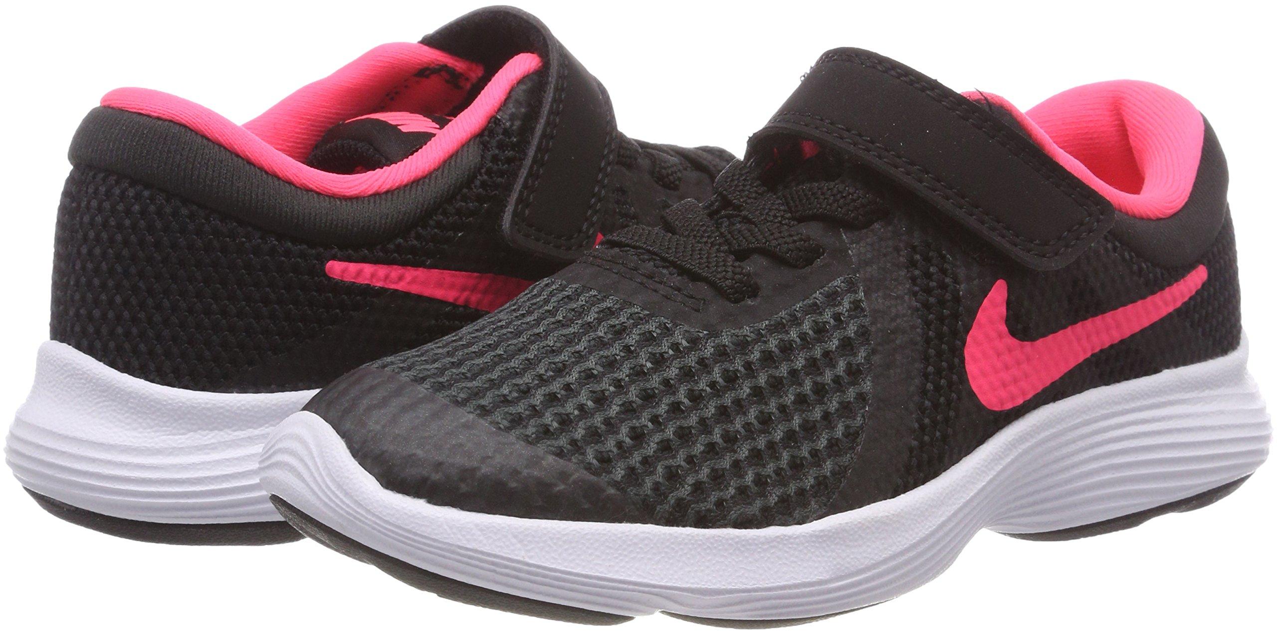 Nike Girls' Revolution 4 (PSV) Running Shoe, Black/Racer Pink - White, 11.5C Regular US Little Kid by Nike (Image #5)