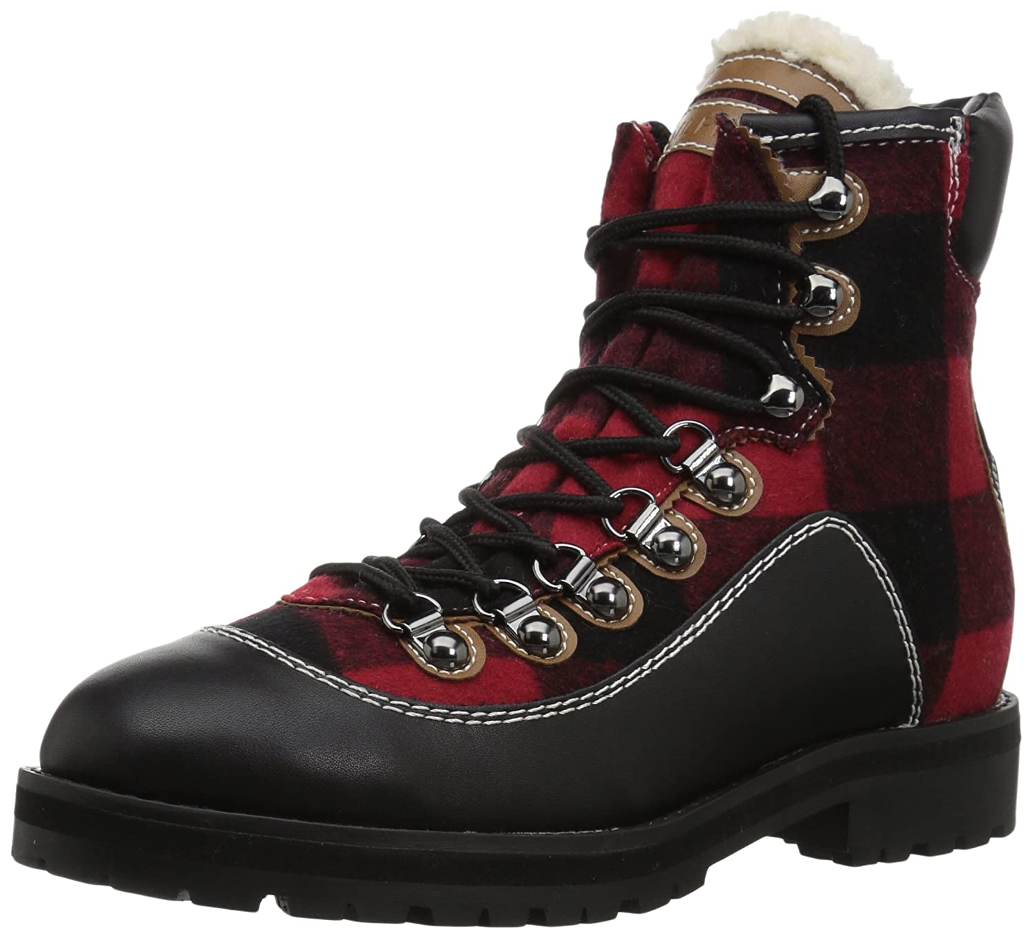 Tommy Hilfiger Women's Tonny Hiking Boot B06XVJTL1N 10.5 B(M) US|Red Plaid