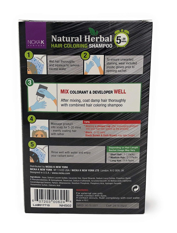 : Nicka K Natural Herbal Hair Coloring Shampoo