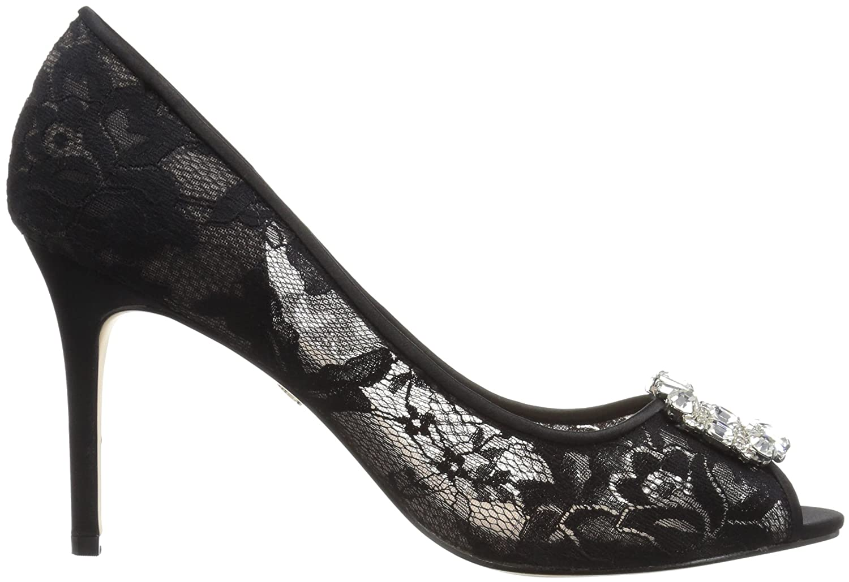 Nina Rhodes Peep Zehe Spitze Stöckelschuhe: Amazon.de: Schuhe & Handtaschen