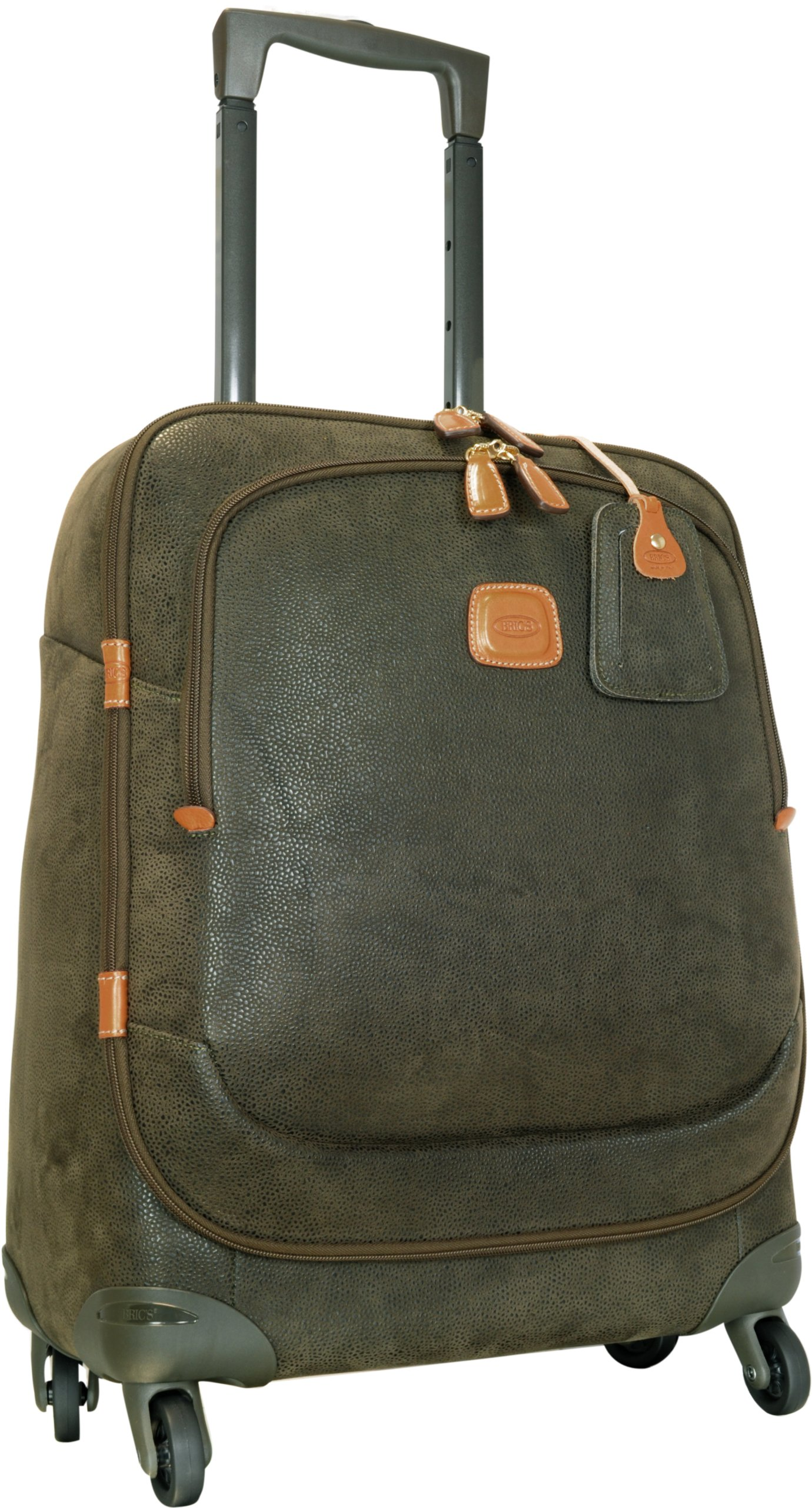 Bric's Luggage Life 21 Inch Carry On Spinner, Olive, One Size