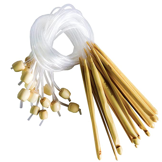 28 opinioni per Set 16 pezzi uncinetto uncinetto tunisino in bambù 15 pezzi di Curtzy- Kit