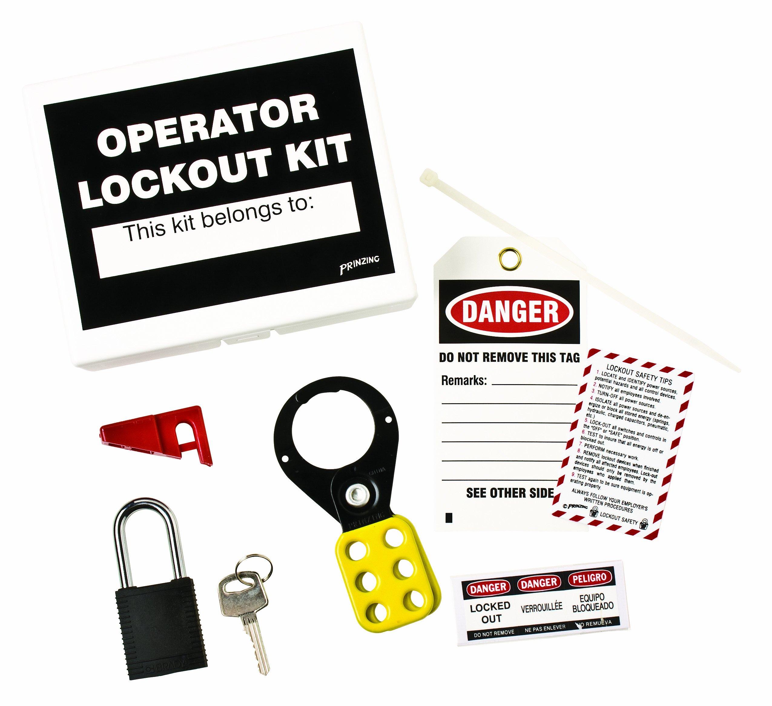 Brady LK432E Prinzing operator Lockout TagOut Kit (1 Kit)