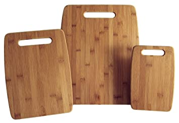 Amazoncom Totally Bamboo 3 Piece Organic Bamboo Cutting Board Set