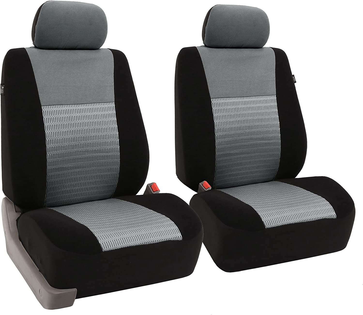 Amazon Com Fh Group Fb060gray102 Gray Deluxe 3d Air Mesh Front Seat Cover Set Of 2 Airbag Compatible Automotive