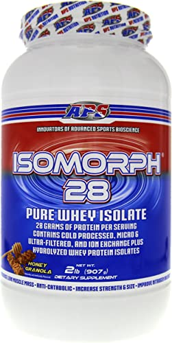 APS Nutrition Isomorph, AAA-Rated Pure Highest Quality Whey Isolate Protein Supplement, Honey Granola, 2 Pound