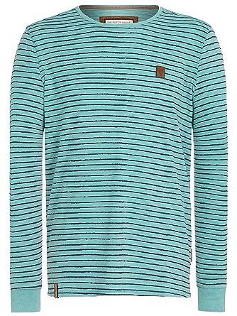 großer Rabatt farblich passend wie kauft man Naketano Herren Langarmshirt Kommt Ein Dünnschiss T-Shirt ...